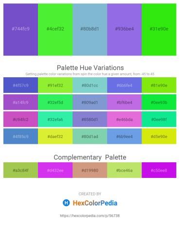 Palette image download - Slate Blue – Lawn Green – Dark Slate Gray – Medium Purple – Lime