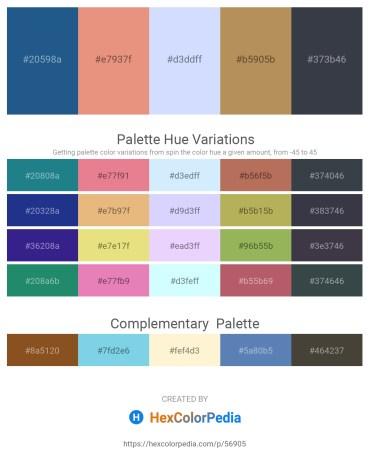 Palette image download - Midnight Blue – Dark Salmon – Alice Blue – Dark Khaki – Dark Slate Gray
