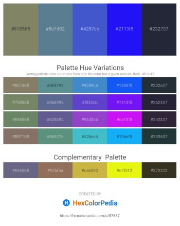 Palette image download - Gray – Cadet Blue – Slate Blue – Blue – Tan