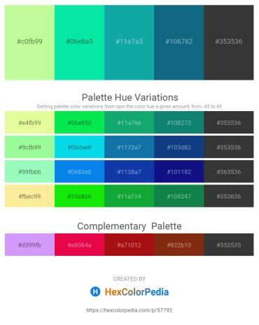 Palette image download - Pale Green – Medium Spring Green – Light Sea Green – Teal – Dark Slate Gray