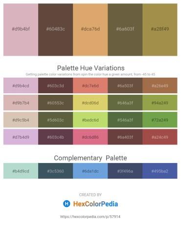 Palette image download - Thistle – Dark Sea Green – Burlywood – Dark Olive Green – Dark Khaki