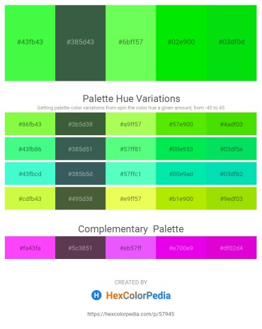 Palette image download - Lawn Green – Dark Slate Gray – Green Yellow – Lime – Lime