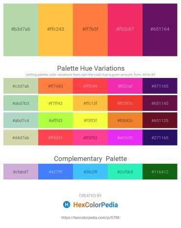 Palette image download - Dark Sea Green – Sandy Brown – Coral – Crimson – Purple