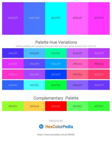 Palette image download - Dark Violet – Dodger Blue – Aqua – Hot Pink – Magenta