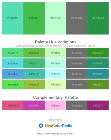 Palette image download - Turquoise – Medium Sea Green – Honeydew – Dim Gray – Sea Green
