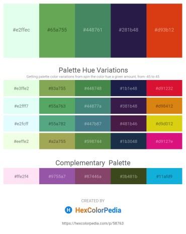 Palette image download - Honeydew – Medium Sea Green – Sea Green – Midnight Blue – Chocolate
