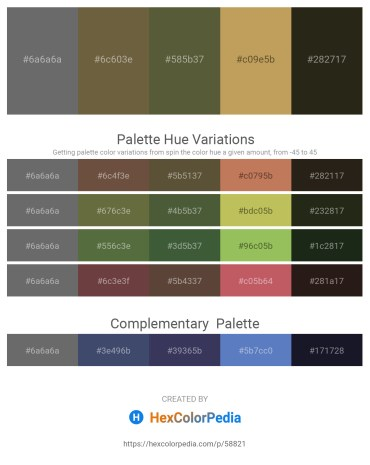 Palette image download - Dim Gray – Dark Olive Green – Dark Olive Green – Dark Khaki – Light Slate Gray