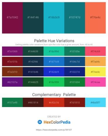 Palette image download - Aquamarine – Medium Turquoise – Light Sea Green – Teal – Tomato
