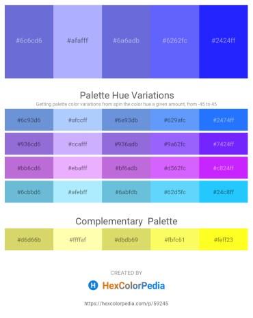 Palette image download - Slate Blue – Light Sky Blue – Slate Blue – Medium Slate Blue – Blue