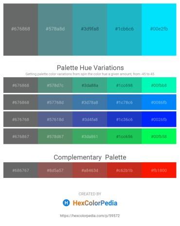 Palette image download - Slate Gray – Cadet Blue – Steel Blue – Light Sea Green – Aqua