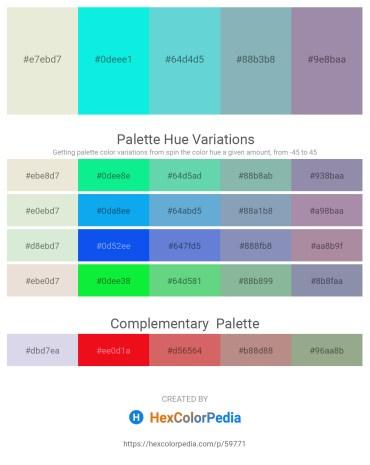 Palette image download - Beige – Aqua – Medium Turquoise – Cadet Blue – Light Slate Gray
