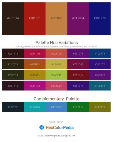 Palette image download - Midnight Blue – Firebrick – Peru – Purple – Midnight Blue