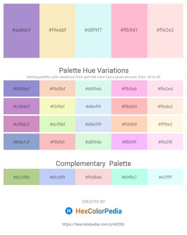 Palette image download - Medium Purple – Wheat – Pale Turquoise – Pink – Misty Rose