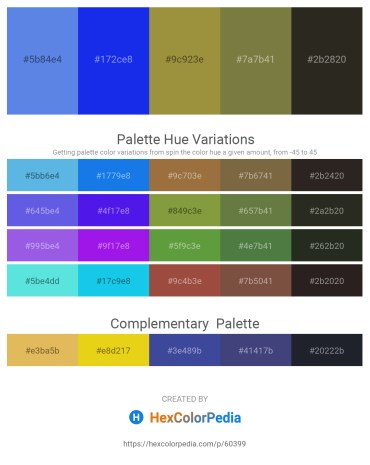 Palette image download - Cornflower Blue – Blue – Orange Red – Dark Olive Green – Black