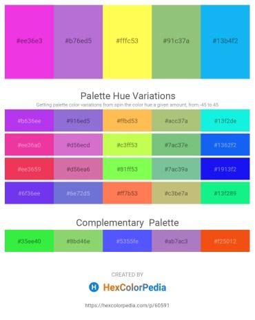 Palette image download - Magenta – Medium Orchid – Green Yellow – Dark Sea Green – Deep Sky Blue