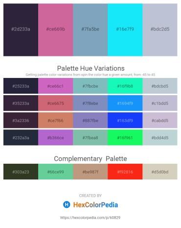 Palette image download - Black – Pale Violet Red – Cadet Blue – Aqua – Light Steel Blue