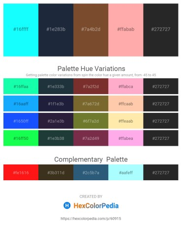 Palette image download - Aqua – Dark Slate Gray – Sienna – Light Pink – Black