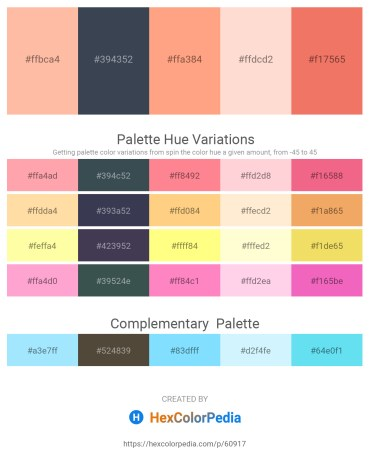 Palette image download - Light Pink – Dark Slate Gray – Light Salmon – Misty Rose – Light Coral