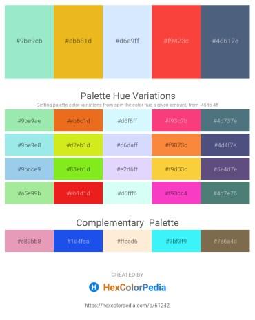 Palette image download - Pale Turquoise – Goldenrod – Alice Blue – Tomato – Dark Slate Blue
