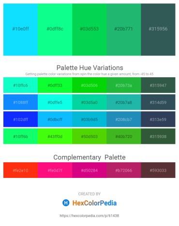 Palette image download - Aqua – Spring Green – Spring Green – Light Sea Green – Dark Slate Gray
