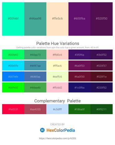 Palette image download - Medium Spring Green – Medium Sea Green – Bisque – Indigo – Purple