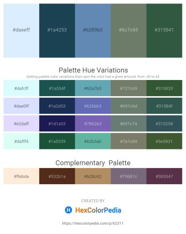 Palette image download - Alice Blue – Midnight Blue – Steel Blue – Slate Gray – Dark Slate Gray