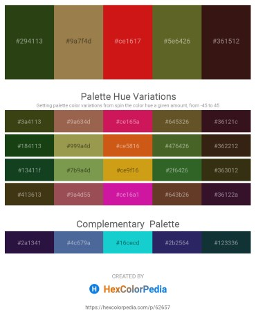 Palette image download - Dark Olive Green – Dark Khaki – Crimson – Dark Olive Green – Misty Rose