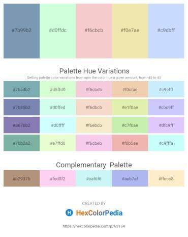 Palette image download - Cadet Blue – Honeydew – Antique White – Pale Goldenrod – Alice Blue