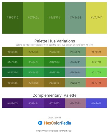 Palette image download - Forest Green – Olive Drab – Olive Drab – Cadet Blue – Yellow Green