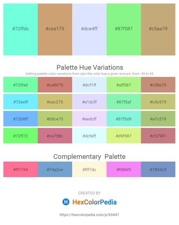 Palette image download - Aquamarine – Tan – Alice Blue – Pale Green – Dark Khaki