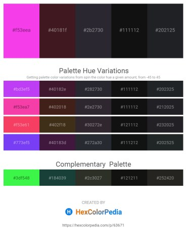 Palette image download - Magenta – Crimson – Yellow Green – Olive Drab – Dark Slate Gray