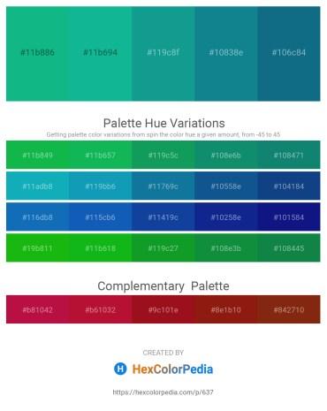 Palette image download - Light Sea Green – Light Sea Green – Light Sea Green – Dark Cyan – Teal
