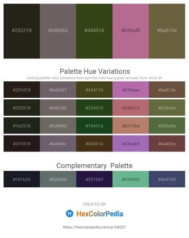 Palette image download - Black – Dim Gray – Dark Olive Green – Rosy Brown – Dark Olive Green