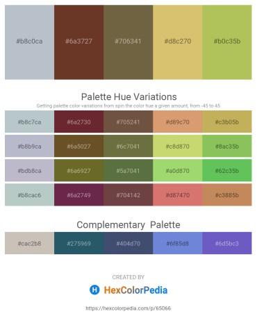 Palette image download - Light Steel Blue – Sienna – Dark Olive Green – Burlywood – Dark Khaki