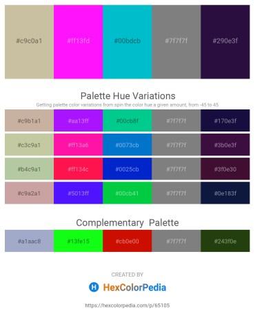 Palette image download - Tan – Magenta – Dark Turquoise – Gray – Midnight Blue