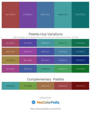 Palette image download - Sienna – Dark Slate Blue – Steel Blue – Dark Orange – Teal