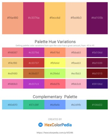 Palette image download - Sandy Brown – Indian Red – Burlywood – Peach Puff – Purple