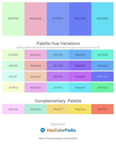 Palette image download - Honeydew – Plum – Cornflower Blue – Medium Slate Blue – Light Sky Blue