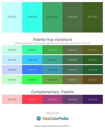 Palette image download - Light Cyan – Aqua – Medium Sea Green – Dark Olive Green – Dark Olive Green