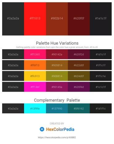Palette image download - Black – Red – Saddle Brown – Saddle Brown – Dim Gray