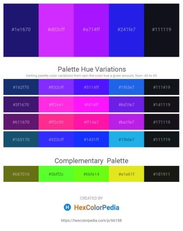 Palette image download - Midnight Blue – Dark Violet – Dark Violet – Royal Blue – Medium Violet Red