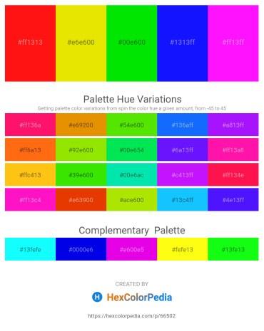 Palette image download - Red – Gold – Black – Blue – Magenta