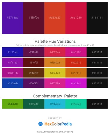Palette image download - Indigo – Firebrick – Chocolate – Crimson – Black