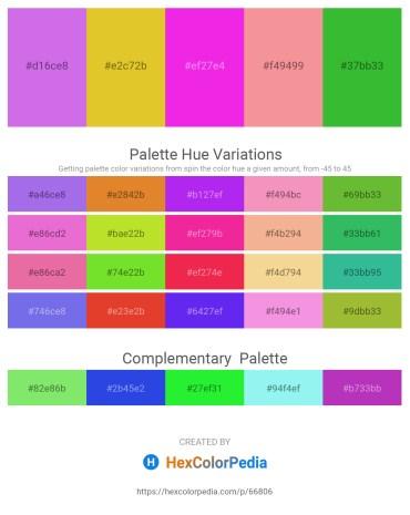Palette image download - Medium Orchid – Goldenrod – Magenta – Light Coral – Lime Green