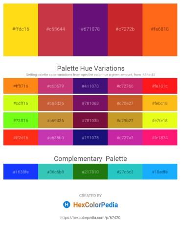 Palette image download - Gold – Brown – Indigo – Firebrick – Orange Red