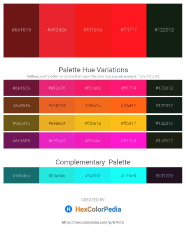 Palette image download - Saddle Brown – Crimson – Crimson – Red – Dark Slate Gray