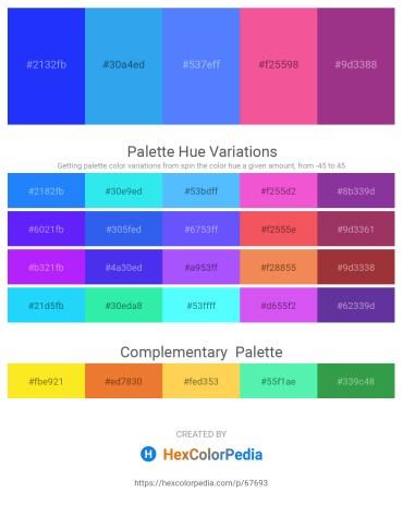 Palette image download - Blue – Dodger Blue – Dodger Blue – Hot Pink – Black