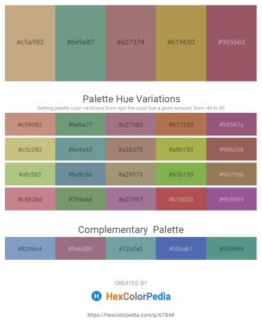 Palette image download - Tan – Cadet Blue – Rosy Brown – Dark Khaki – Steel Blue