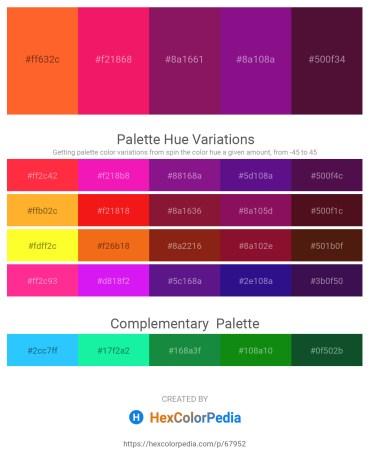 Palette image download - Tomato – Crimson – Medium Violet Red – Dark Magenta – Navajo White