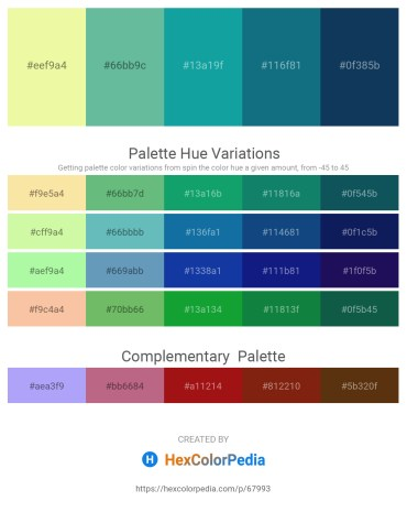 Palette image download - Khaki – Medium Aquamarine – Light Sea Green – Teal – Midnight Blue